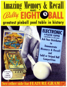 Eight ball flyer front